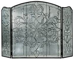 modern style glass fireplace screen with myrtl fire place screen