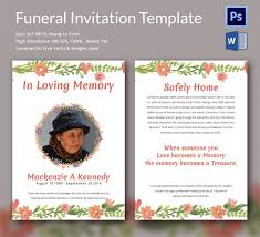 doc 600900 funeral invitation templates u2013 15 funeral invitation