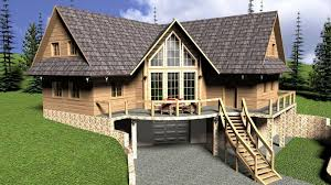 log house with garage 3d cgtrader