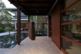 Home Courtyard by Courtyard House By Hiren Patel Architects