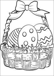boy pick easter eggs coloring picture kids easter
