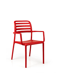 contemporary restaurant chair stackable with armrests 100
