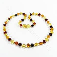 coloured beads necklace images Premium baroque mixed colors beads amber teething necklace jpg
