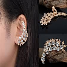 gold ear cuffs aliexpress buy fashion women flower ear cuff clip