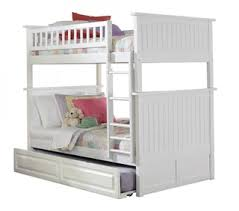 White Bunk Bed With Trundle Bunk Beds U0026 Loft Beds For Kids Bedroom Furniture With Desk And Drawers
