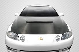 lexus sc300 lowering kit 92 00 lexus sc vip dritech carbon fiber body kit hood 112980