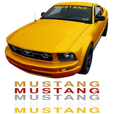 mustang windshield decal graphic express mustang windshield 05 14 cj pony part