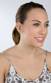 ear cuff images silvertone chain link ear cuff
