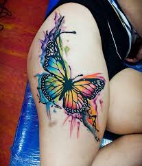 100 amazing butterfly tattoo designs butterfly thigh tattoo