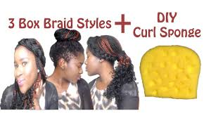 styling box braids with tapered haircut diy curl sponge mona