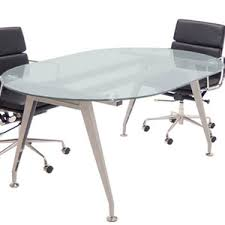 Frosted Glass Conference Table 6 Ft 8 Ft Racetrack Shaped Frosted Glass Conference Table With