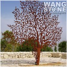 laser cut metal decoration corten steel garden tree sculpture