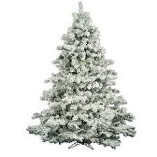 get 7 5 flocked fast shape tree with led lights or find