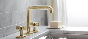 kohler fairfax kitchen faucet antique single unlacquered brass kitchen faucet handle side