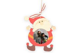 wooden santa photo ornament