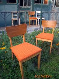 Les dedees vintage recup creations CHAISES ORANGE 50 S