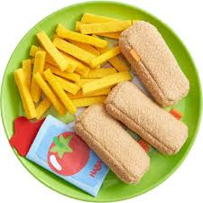 cuisine haba haba biofino fish fingers chips fabric play food toyjeanius