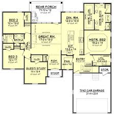 european style house plan 4 beds 2 00 baths 2180 sq ft plan 430 121