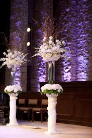 furniture flower vases for weddingswith white tulip on tall glass