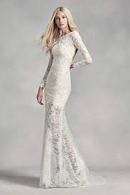 lace wedding dress with sleeves sleeve lace wedding dresses david s bridal