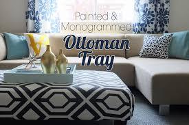 Ottoman With Tray Big Square Ottoman Tray