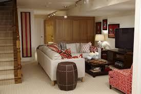 sarah richardson design basement family room with ivory walls
