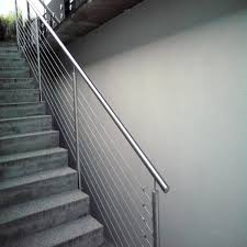 Steel Banister Rails Cable Railings Stainless Steel Railing Accessories Square Pipe Post