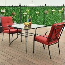 Patio Furniture Glass Table Red Iron Patio Furniture Shop The Best Outdoor Seating U0026 Dining