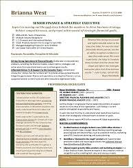 Financial Resume Example by Resume Samples For All Professions And Levels