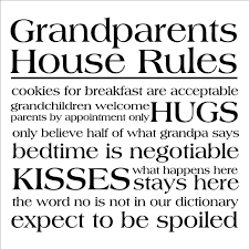 amazon com grandparents house rules wall sayings vinyl lettering