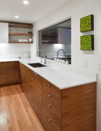 wood kitchen cabinets with white countertops modern kitchen design build by vanillawood grain matched
