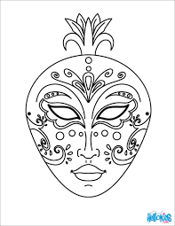 masks and masquerade coloring pages hellokids com