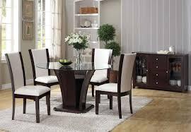 furniture malik 6 piece round dining set in espresso