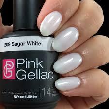 White Pink Nail White Gel And Varnish Colors Pink Gellac Gel Nail