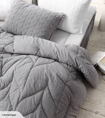 Grey Comforters Queen Bedroom Silver Grey Bedding Sets Twin Full Queen King Size Cotton
