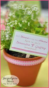 flower pot favors bridal shower flower pot favors wedding favor mini flower pot