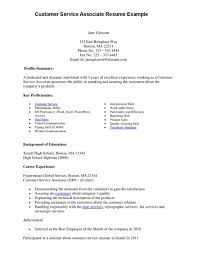 Skills Section Of Resume Examples Of Resumes For Customer Service Resume Example And Free