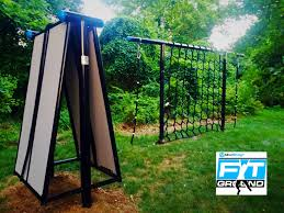 movestrong fitground a wall climber outdoor obstacle course