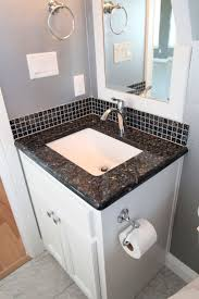 12 best bathroom remodel images on pinterest bathroom ideas couto contemporary home powder bathroom pure white cabinets blue pearl granite