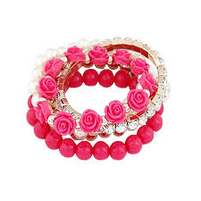 rose bead bracelet images 5 in 1 bohemian simple style women bracelet cute rose flower jpg