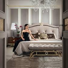 Italian Luxury Bedroom Furniture by Italian Designer Nubuck Art Deco Bed Juliettes Interiors