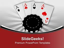 poker chips and cards game theme powerpoint templates ppt