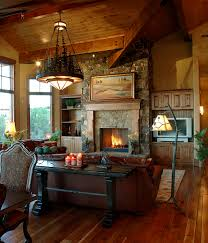 open floor plan kitchen dining living room rustic table and chairs
