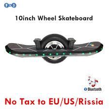 electric skateboard led lights flj 10inch one wheel skateboard hoverboard self balancing scooter