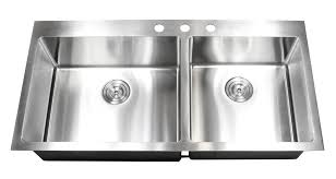 Kitchen Sinks Drop In Double Bowl by 43 Inch Top Mount Drop In Stainless Steel Double Bowl Kitchen