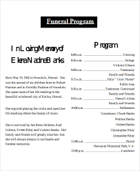 Templates For Funeral Program Printable Funeral Programs Funeral Program Template