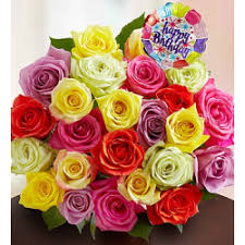72 99 flowers happy birthday assorted roses 24 stems with