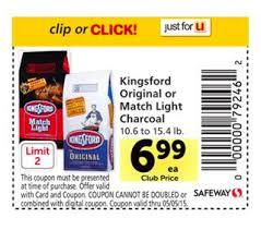Kingsford Match Light Safeway Kingsford Original Or Match Light Charcoal 3 99
