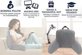 tv bed pillow amazon com big ant reading pillow bed rest pillow comfort pp