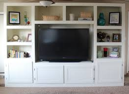 living room renovation with diy entertainment center for flat